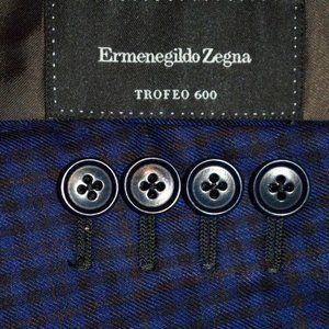 42R Ermenegildo Zegna Blue Check Plaid BLAZER